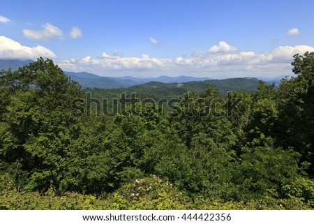 North Carolina Mountains in the Summer - stock photo