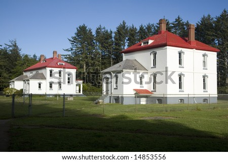 North Head Lighthouse, Illwaco, Washington, Keepers residences