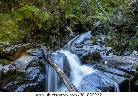 North Idaho waterfalls near Kootenai Wildlife Refuge in Bonners Ferry, Idaho. - stock photo