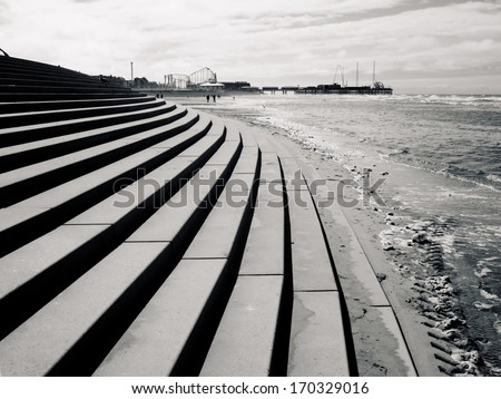 North Pier Blackpool - stock photo