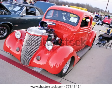 NORTH RICHLAND HILLS,TX - AUGUST 30: A Ford 1936 at BISD Car Show  - August 30, 2008 at Birdville ISD in North Richland Hills, Texas. - stock photo