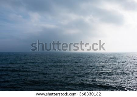 North Sea and Scarborough coast. Scarborough, United Kingdom. - stock photo