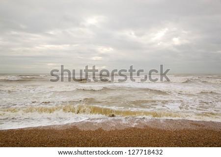 North Sea, Brighton - stock photo