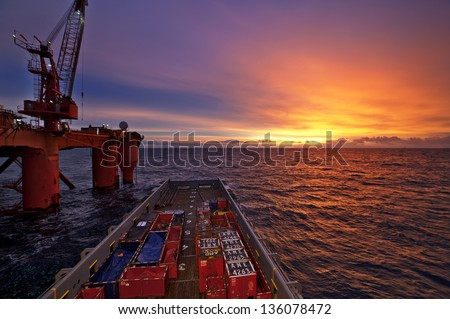 north sea, offshore - stock photo