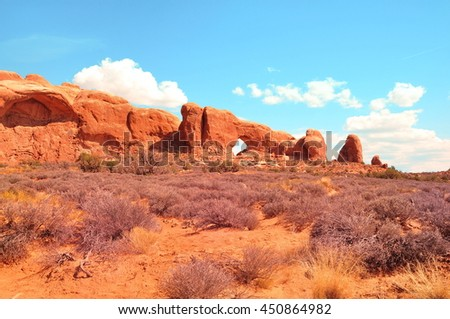 North Window in Arches National Park, Utah, USA
