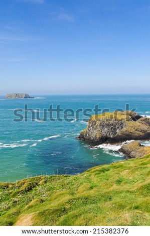 Northern coast of County Antrim, Northern Ireland. - stock photo