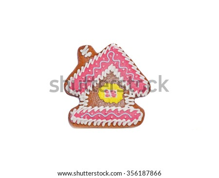 northern gingerbread kozula in form of house - stock photo
