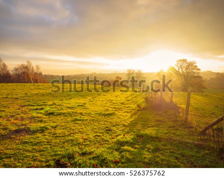 Northern Ireland countryside morning sunrise