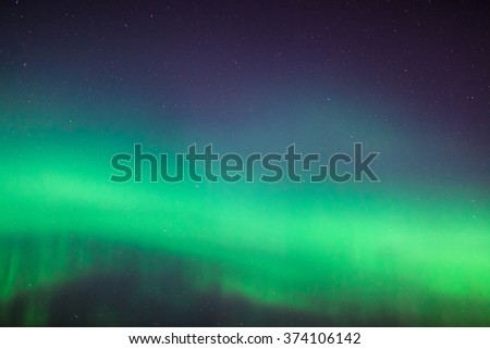 Northern lights sky background - stock photo