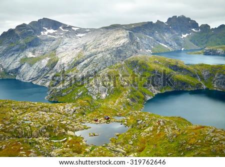 Northern Norway landscapes. Lofoten islands - stock photo