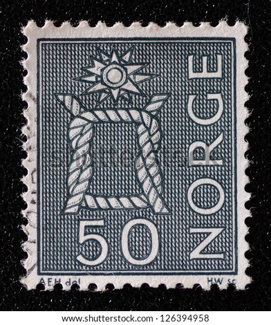 NORWAY - CIRCA 1968: A stamp printed in the Norway, shows Boatswain's knot, circa 1968