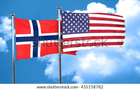 norway flag, 3D rendering