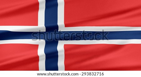 Norway Flag. Flag with a beautiful glossy silk texture.
