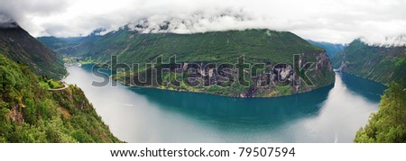 Norway, Geiranger fjord - stock photo