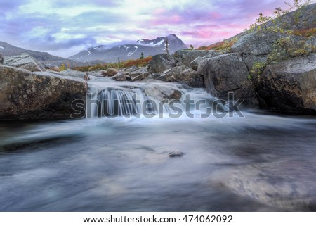 Norway Mountains  - little creek in autumn
