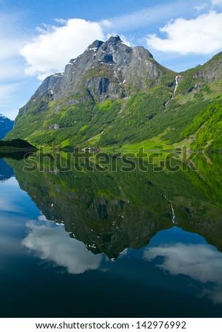 Norway, Scandinavia, Europe. Beautiful fjord and coast. - stock photo