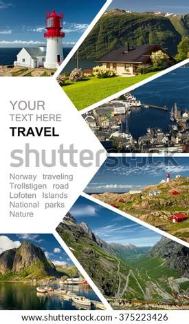 Norway. Scandinavia. Travel. Trollstigen road.  Travel  concept - stock photo