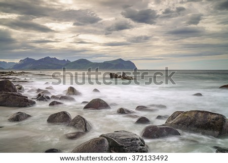 Norwegian coastal scene in the Lofoten