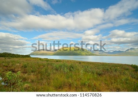 Norwegian mountain landscape - stock photo