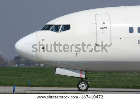 Nose of plane - stock photo