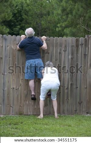 Nosey Neighbor - stock photo
