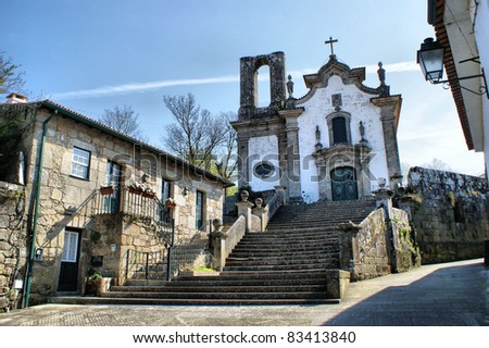 Nossa Senhora das Pereiras chapel in Ponte de Lima, Portugal - stock photo