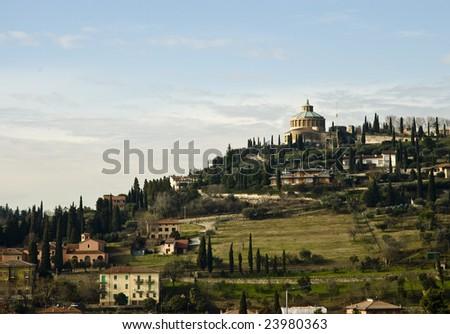 Nossa Senhora de Lourdes Cathedral, Verona, Italy - stock photo