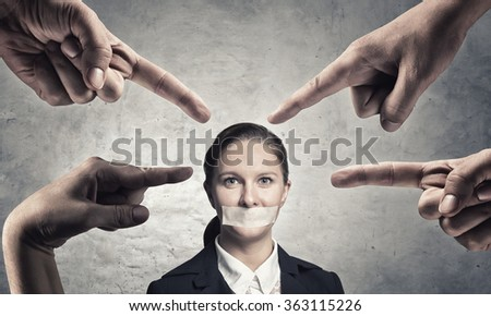 Not a word she will say - stock photo