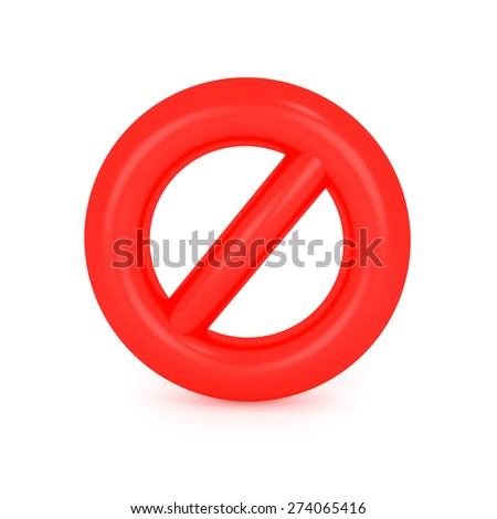 Not Allowed Sign - stock photo