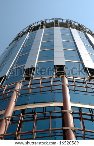 Not complete building of a skyscraper - stock photo