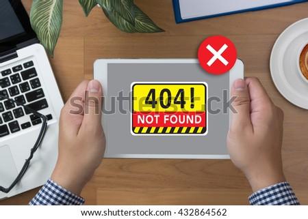 Not Found 404 Error Failure Warning Problem - stock photo