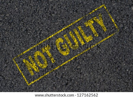 Not guilty stamp background