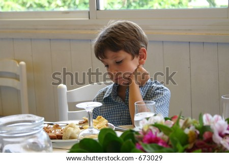 Not hungry - stock photo