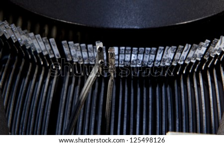not written with typewriter keys - stock photo