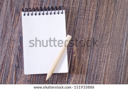 note and pencil - stock photo