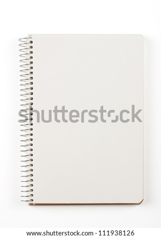 Note book isolated on white - stock photo