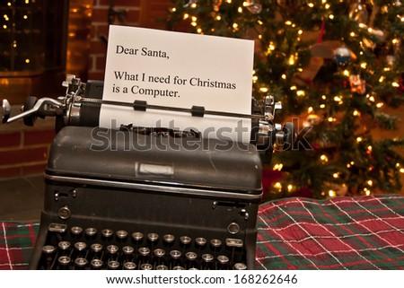 Note for Santa - stock photo