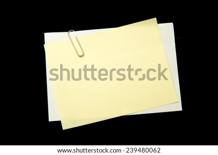 Note pad on black background