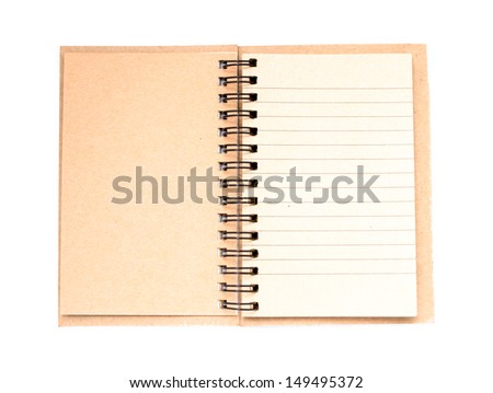 note paper book isolated on white background