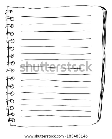 Note paper doodle - stock photo