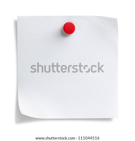 Note paper , Isolated on white - stock photo