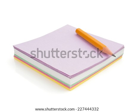 note paper isolated on white background - stock photo