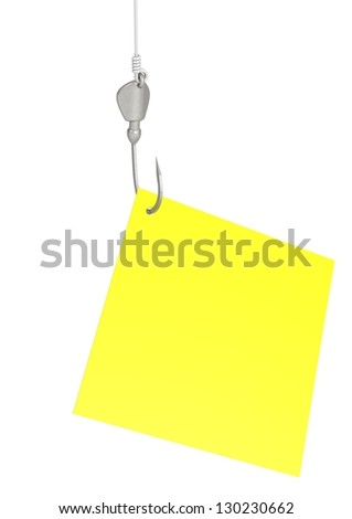 Note paper on hook - stock photo