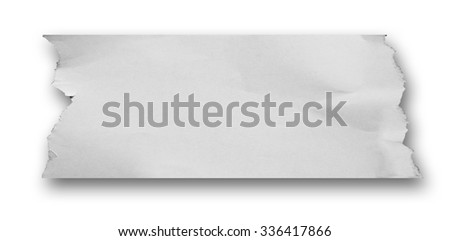 note papers on white background with clipping path.