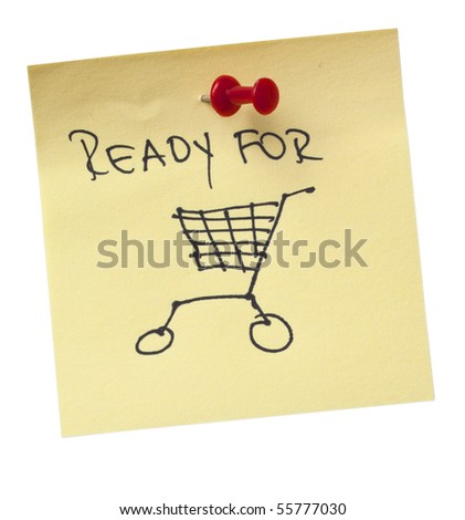 Note, ready for shopping