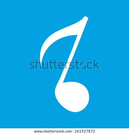 Note web white icon isolated on a blue background