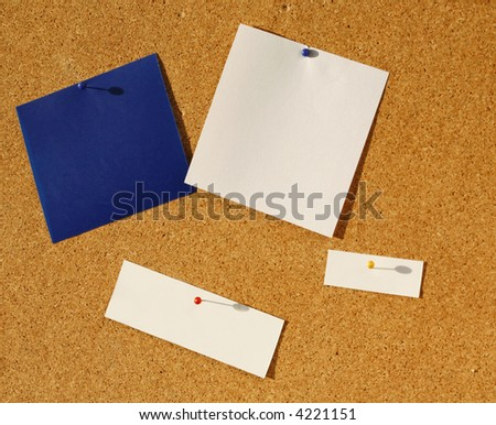 Note with Tack - stock photo