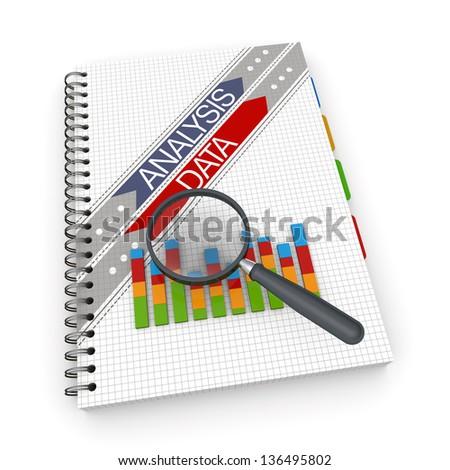 Notebook analysis data concept - stock photo