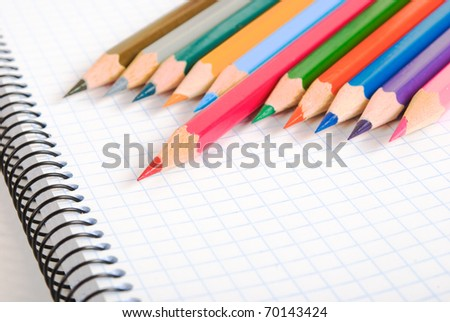 Notebook and pencils