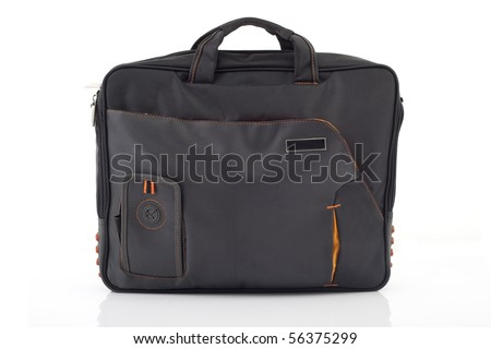 Notebook bag isolated on white - stock photo